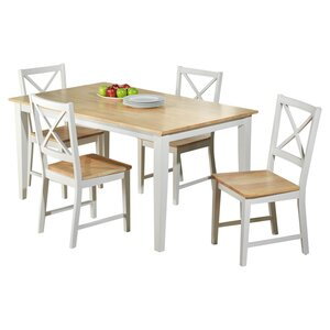 Becky Crossback 5 Piece Dining Set