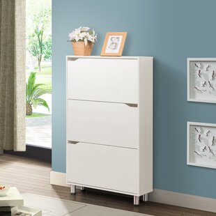 Inexpensive 18 Pair Shoe Storage Cabinet By Rebrilliant