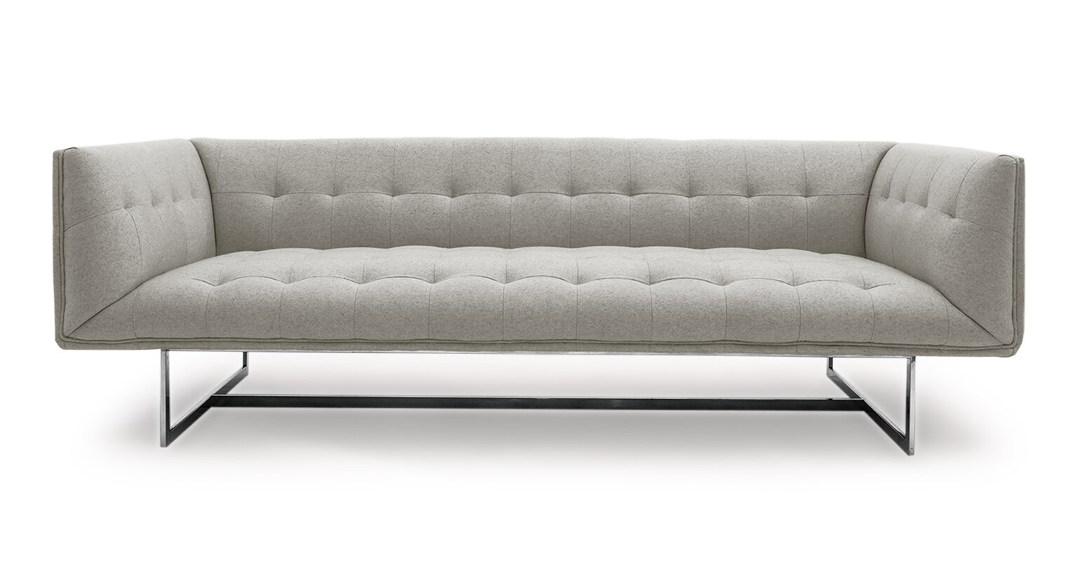 Karl Edward Mid Century Modern Chesterfield Sofa Reviews