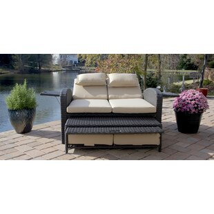 Latitude Run Massaro Double Reclining Chaise Lounge with Cushions
