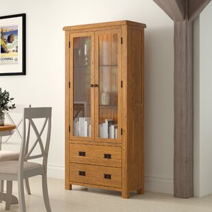 Rayleigh Solid Oak Display Cabinet By Gracie Oaks