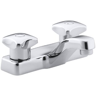 Kohler Triton Centerset Commercial Bathroom Sink Faucet with Standard Handles, Drain Not Included
