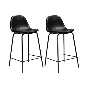 Astounding Neil Faux Leather Bar Counter Stool Set Of 2 Gmtry Best Dining Table And Chair Ideas Images Gmtryco