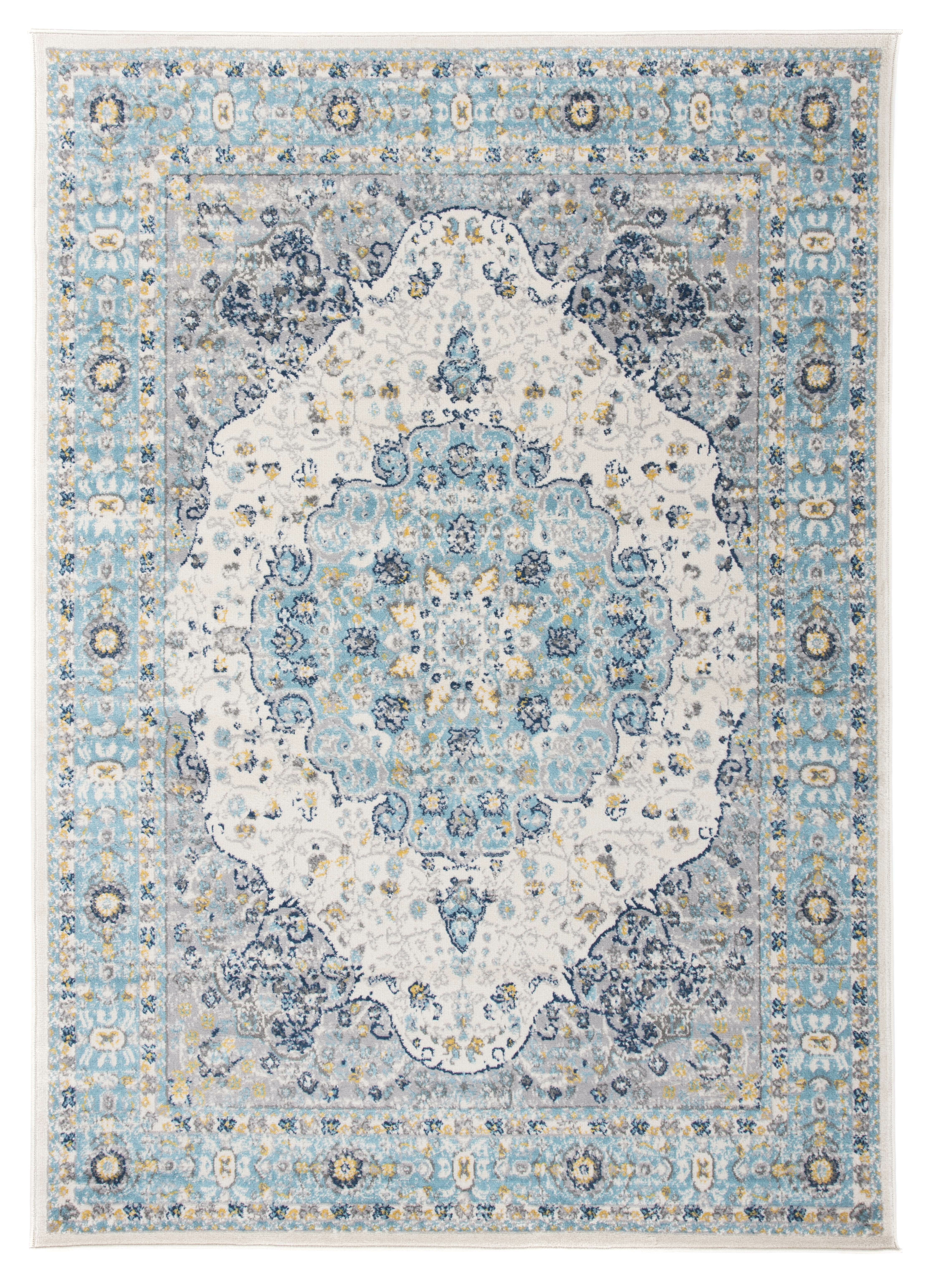Ophelia Co Khalil Creamblue Area Rug Reviews Wayfair