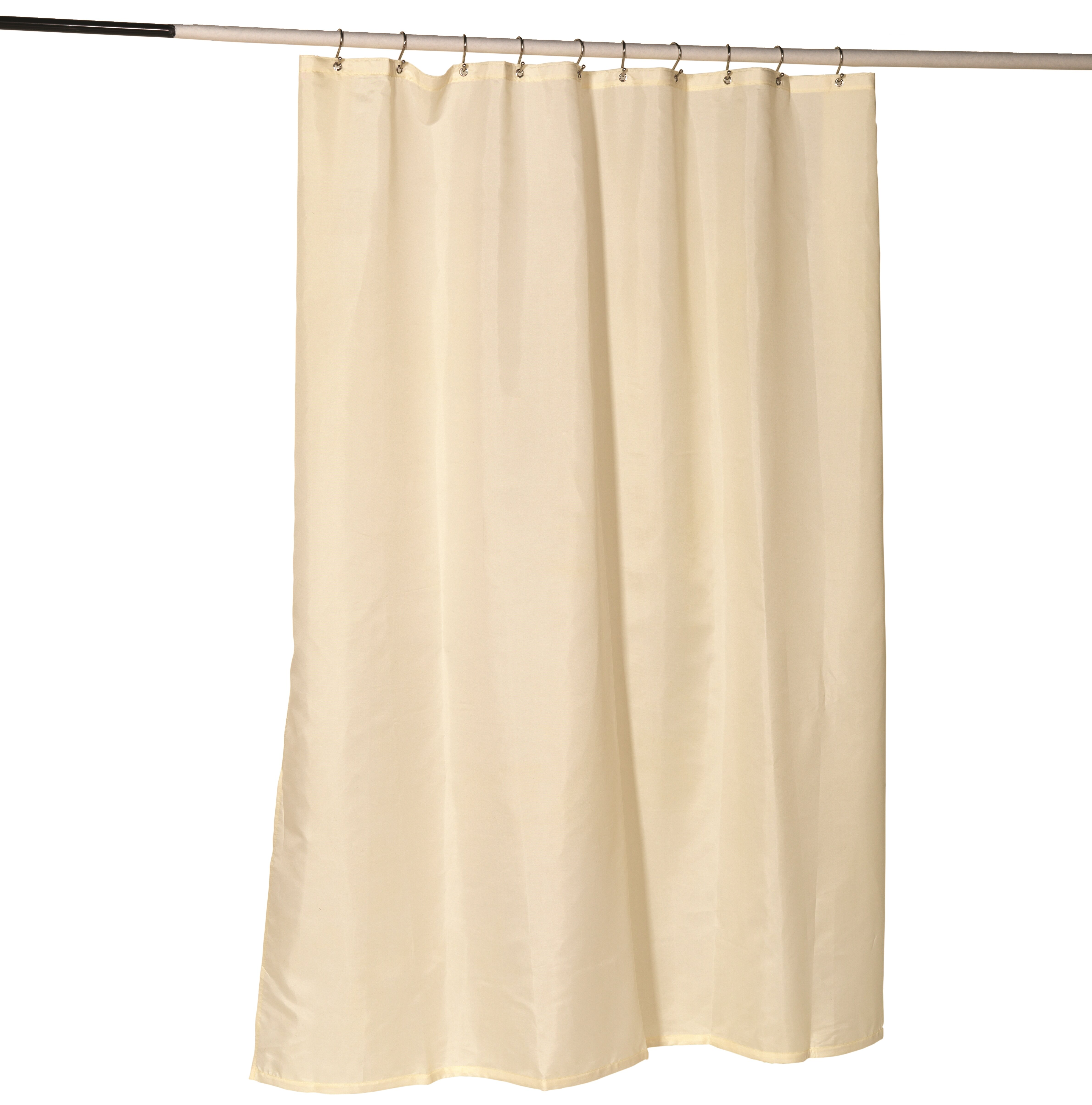 Halfon Nylon Fabric Single Shower Curtain Liner With Reinforced Header And Metal Grommets