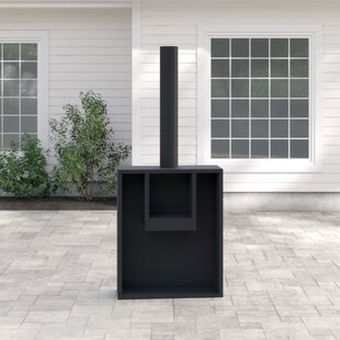 Eeron Steel Charcoal/Wood Burning Outdoor Fireplace By Gardeco