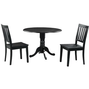 Shorewood 3 Piece Drop Leaf Solid Wood Dining Set by August Grove