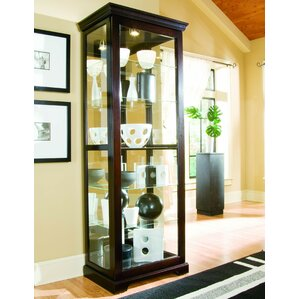 Ealing Lighted Curio Cabinet by Red Barrel Studio