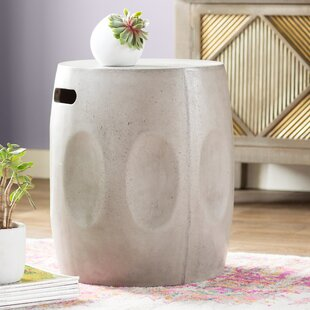 Alan Drum Side Table by Mistana Great price