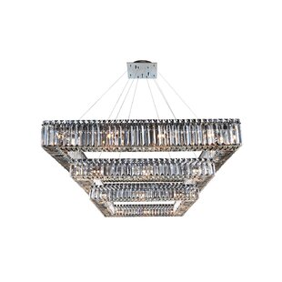 Riesel 36-Light Crystal Chandelier by Eve..