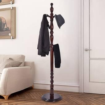 Canora Grey Lecuyer 11 Hook Coat Rack In Brown Wayfair