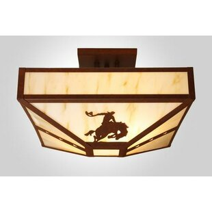 Steel Partners 8 Seconds 4-Light Post Drop Semi Flush Mount