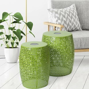 Kaiya Garden Metal Side Table (Set of 2)