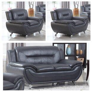 Gatto 3 Piece Living Room Set