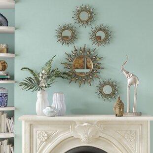 mirror for living room wall. 5 Piece Burst Mirror Set Sets You ll Love  Wayfair