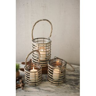 3 Piece Willow Lantern Set by Bay Isle Home