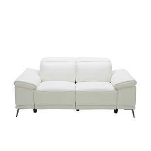 Brookville Leather Reclining Loveseat Wade Logan