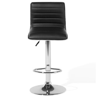 Emerita Faux Leather Adjustable Swivel Bar Stool by Orren Ellis