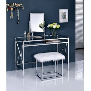 Bedroom  Makeup Vanities Joss  Main - Mirrored makeup vanity set