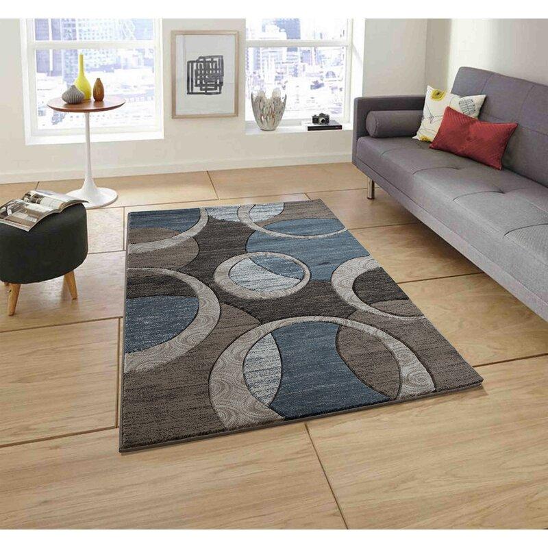 Wrought Studio Adonia Geometric Brown Gray Area Rug Reviews Wayfair