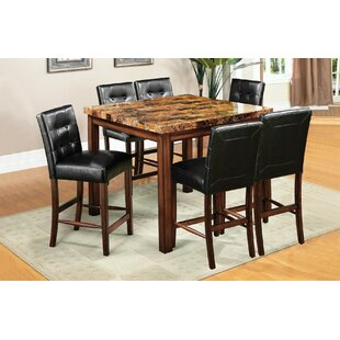 Husted 7 Piece Counter Height Dining Set