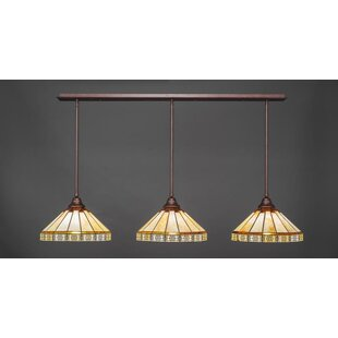 Red Barrel Studio Bax 3-Light Kitchen Island Pendant
