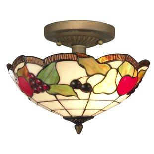 Springdale Lighting Fruits 2-Light Semi Flush Mount