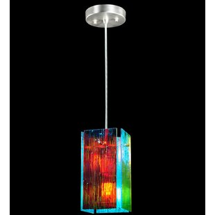 Metro Fusion Fire and Ice Mist Quadrato 1-Light Square/Rectangle Pendant by Meyda Tiffany