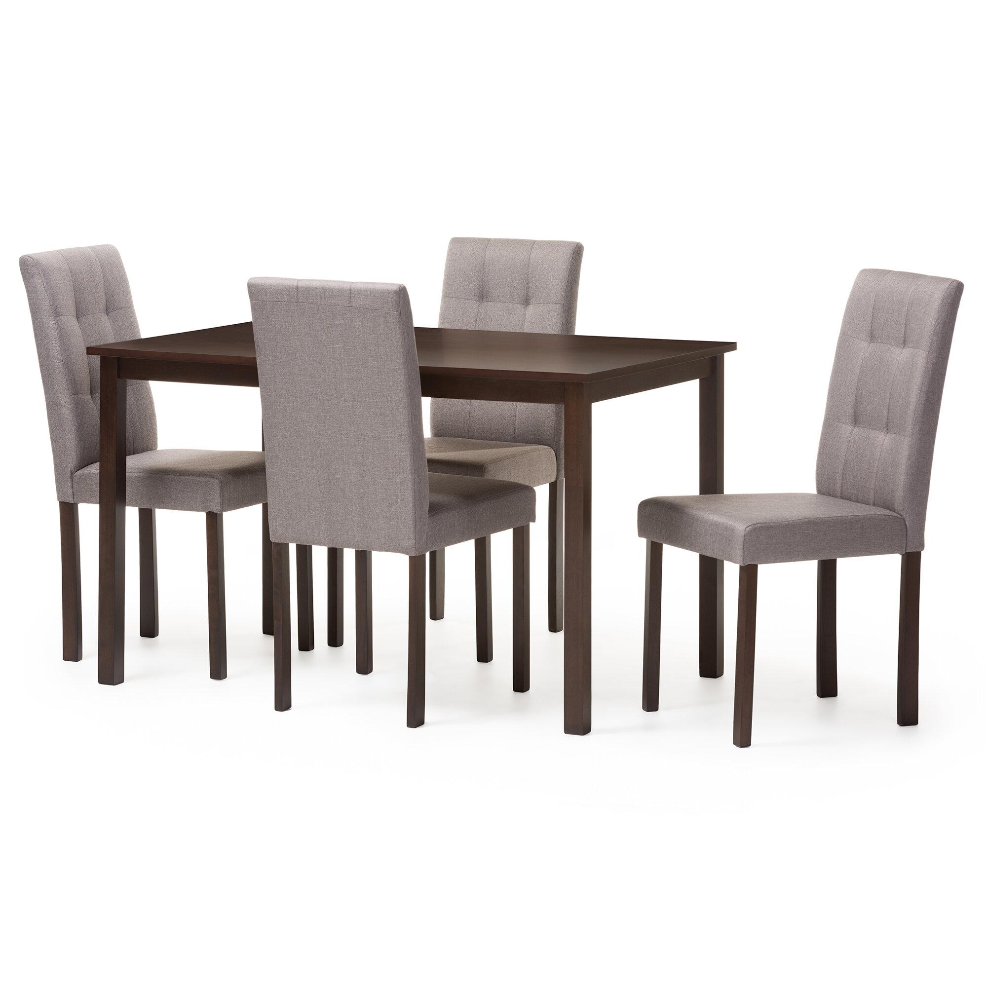 f0906b5f36c6 Wholesale Interiors Andrew 5 Piece Dining Set   Reviews
