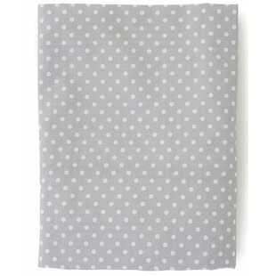 The Little Acorn Fox Dot 200 Thread Count 100% Cotton Fitted Sheet