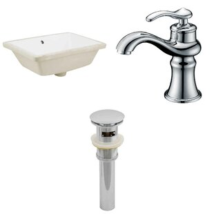 Where buy  CUPC Ceramic Rectangular Undermount Bathroom Sink with Faucet and Overflow ByRoyal Purple Bath Kitchen