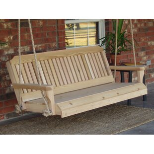 Maisie Cedar Traditional Rope Porch Swing