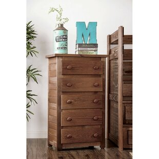 Maven Wooden 5 Drawer Chest
