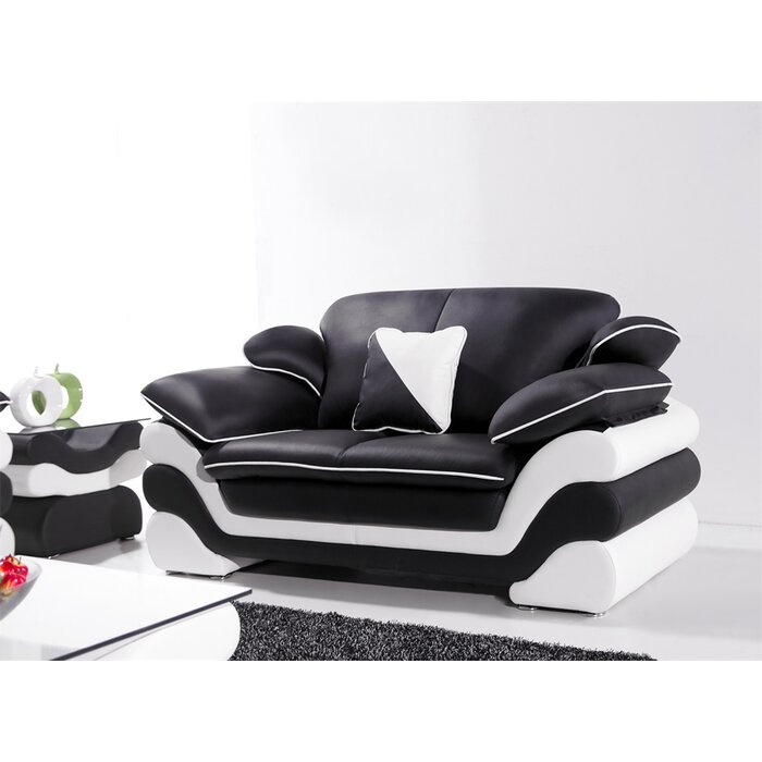 Nan 7 Piece Leather Living Room Set