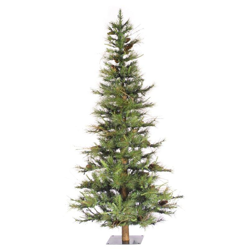 Ashland Wood Trunk Tree With Tips An 6 Green Fir Artificial Christmas Unlit