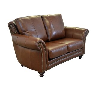 Clinton Leather Loveseat by Westland and ..