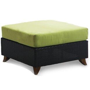 Brayden Studio Scottsmoor Outdoor Teak Ottoman with Cushion