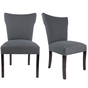 Laurel Foundry Modern Farmhouse Salmon Allure Pebble Spring Seating Double Dow Upholstered Parsons Chair (Set of 2)