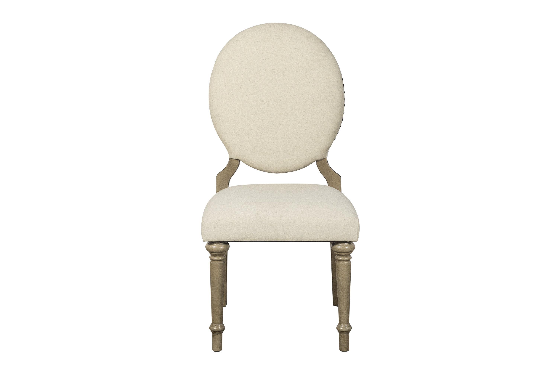 Antonie Upholstered Side Chair In Beige