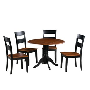 Chesterton 5 Piece Carved Solid Wood Dining Set Alcott Hill