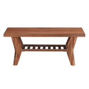 Bungalow Rose Vasili Wooden Coffee Table