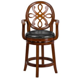Paradis Wood 26 Swivel Bar Stool Astoria Grand