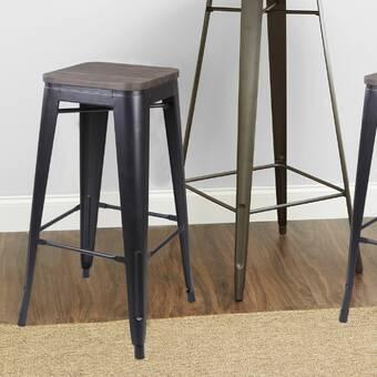 Latitude Run Amanee Solid Wood 24 Counter Stool Wayfair