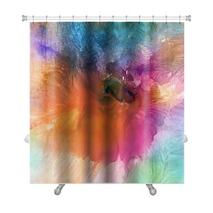 Art Primo Acrylic and Watercolor Painted Single Shower Curtain