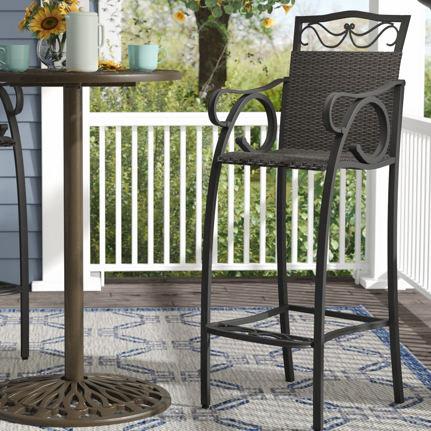 Stapleton 32 Patio Bar Stool Reviews Birch Lane