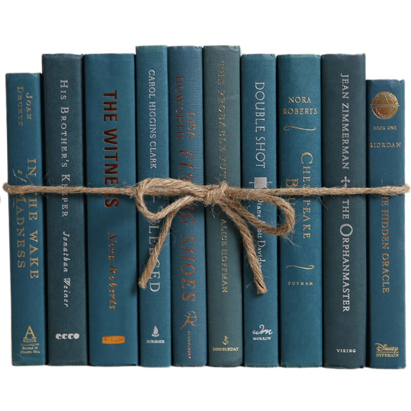 Booth Williams Authentic Decorative Books By Color Modern Blue Spruce Colorpak 1 Linear Foot 10 12 Books Wayfair
