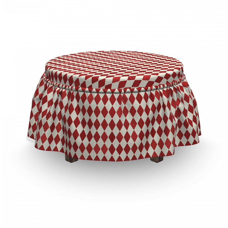 East Urban Home Ambesonne Circus Ottoman Cover Vintage