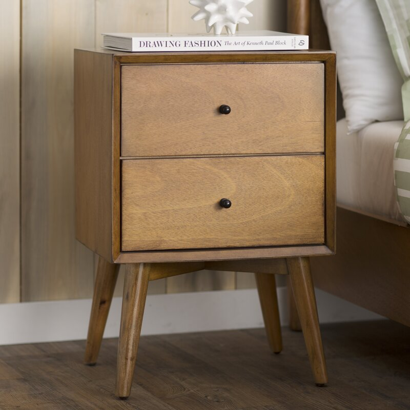 Langley Street Parocela 2 Drawer Nightstand & Reviews