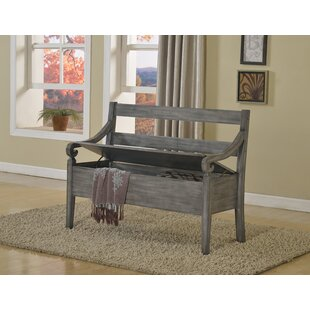 Charlton Home Rogowski Wood Storage Bench