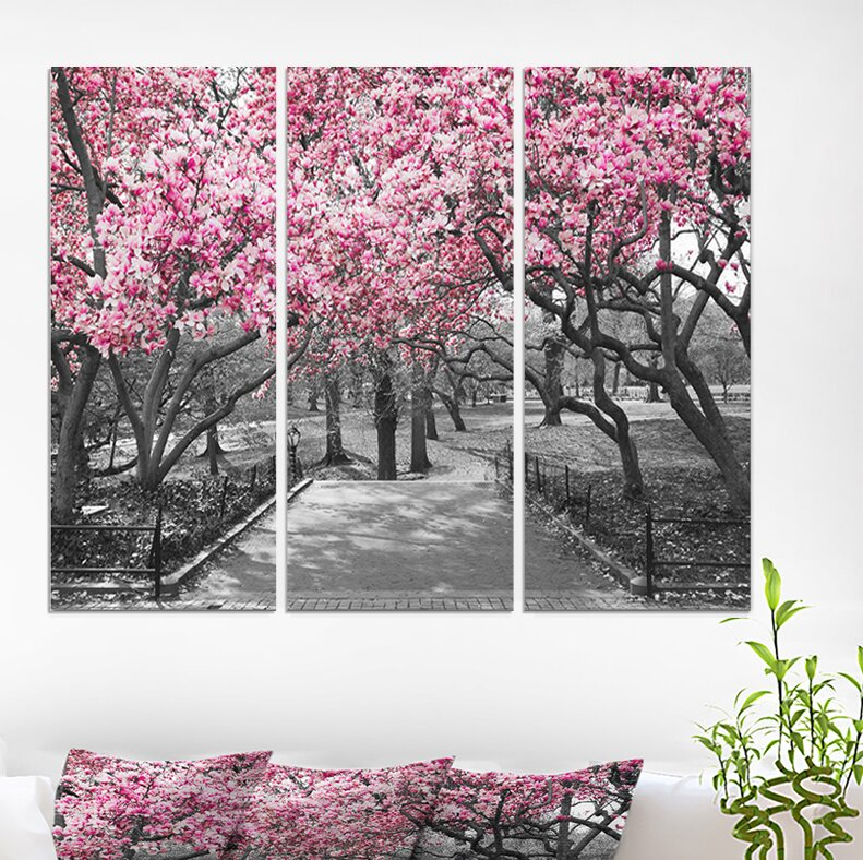 East Urban Home Cherry Blossoms Photographic Print Multi Piece Image On Wrapped Canvas Reviews Wayfair
